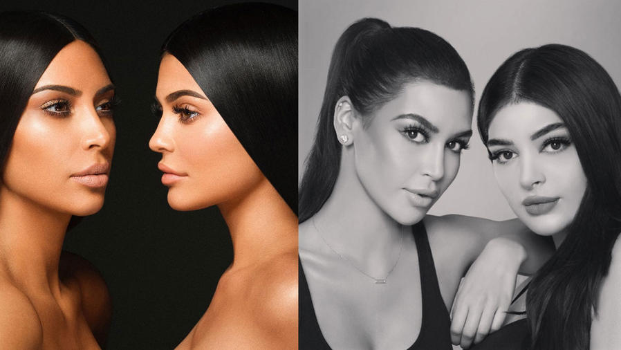 Las dobles de Kim Kardashian y Kylie Jenner