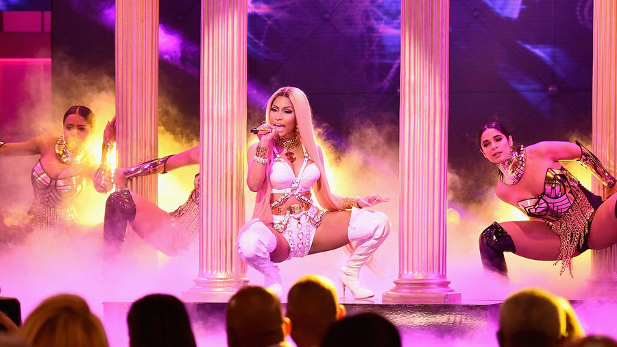 Nicki Minaj en los NBA Awards 2017