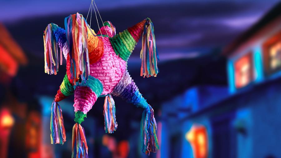 Piñata colgada