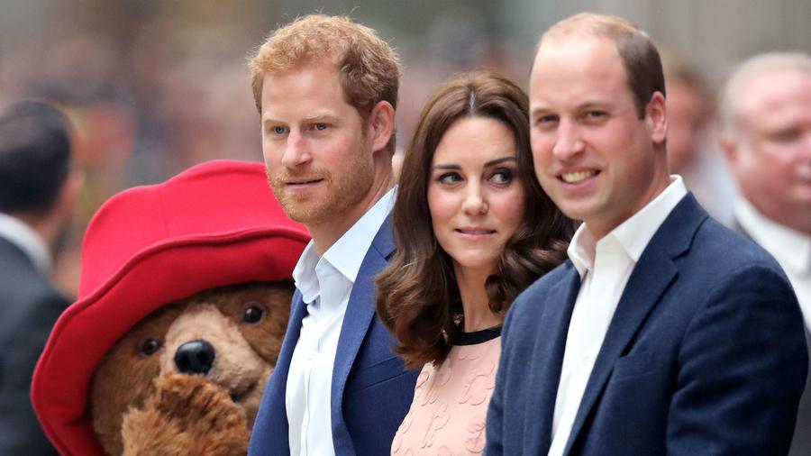 Kate Middleton junto al príncipe Harry y el príncipe William