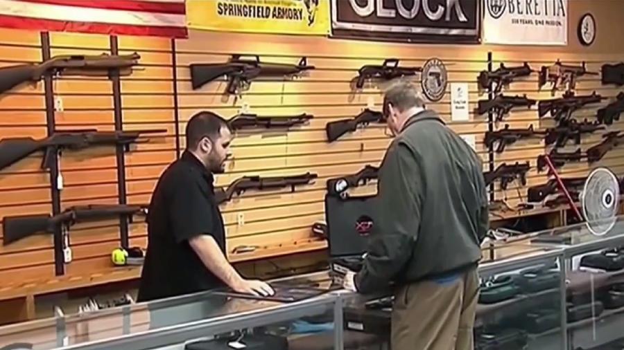 Una tienda de armas en EEUU en una imagen de archivo.