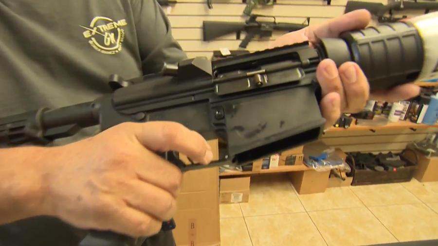 Imagen de un rifle usado a la venta.