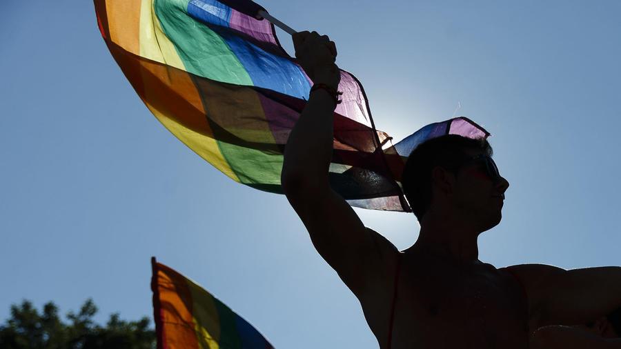 Participantes de la fiesta del Orgullo Gay.