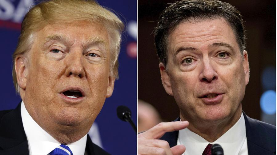El presidente Donald Trump y el exdirector del FBI, James Comey.