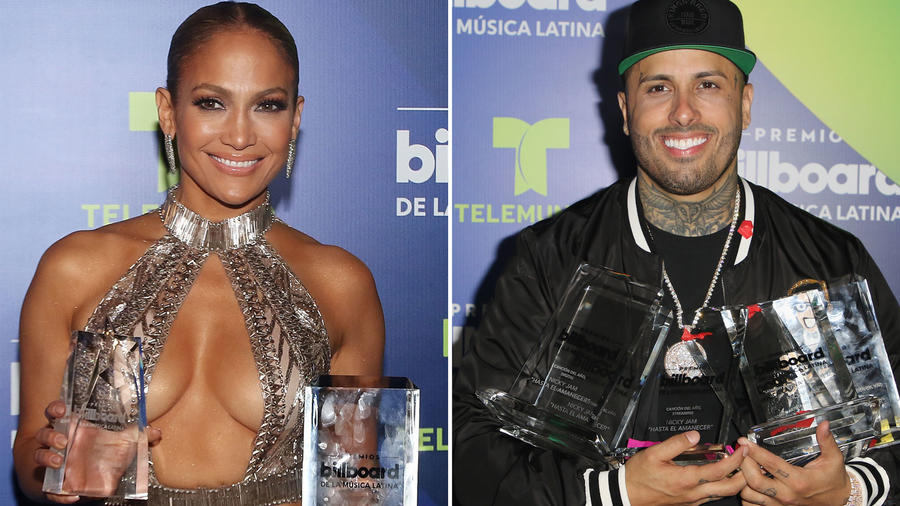 Collage ganadores Premios Latin Billboard 2017