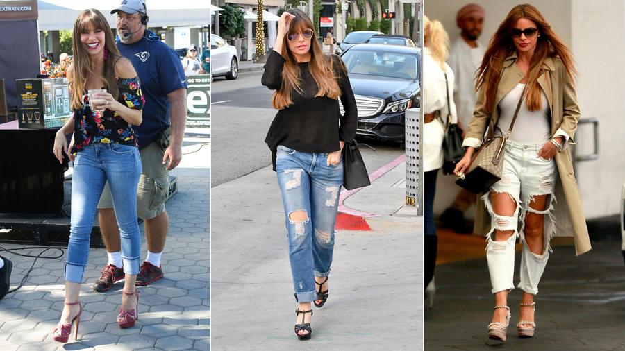 Sofía Vergara looks con jeans