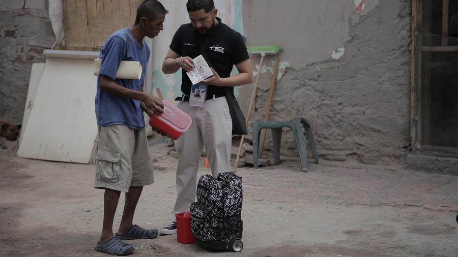 Adan, uno de los muchos drogadictos en un picadero de la fronteriza Ciudad Juárez, en el norte mexicano