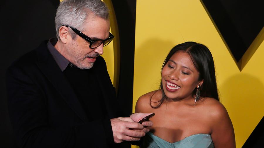 Alfonso Cuarón y Yalitza Aparicio