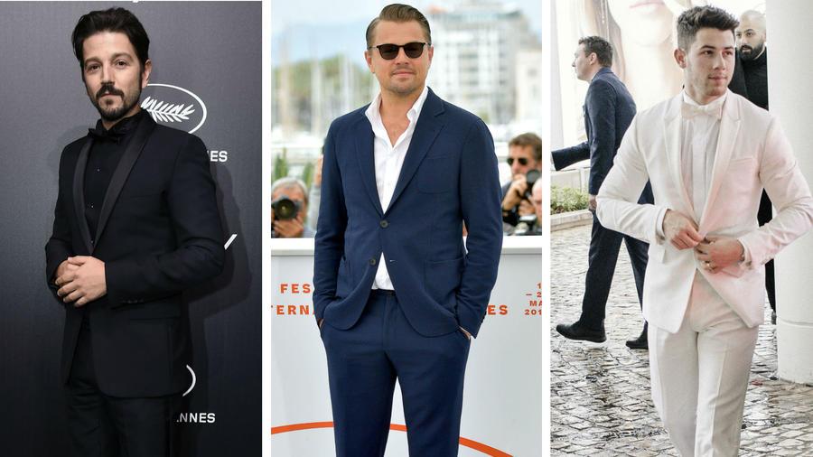 Diego Luna, Leonardo DiCaprio y Nick Jonas en el Festival de Cine de Cannes 2019