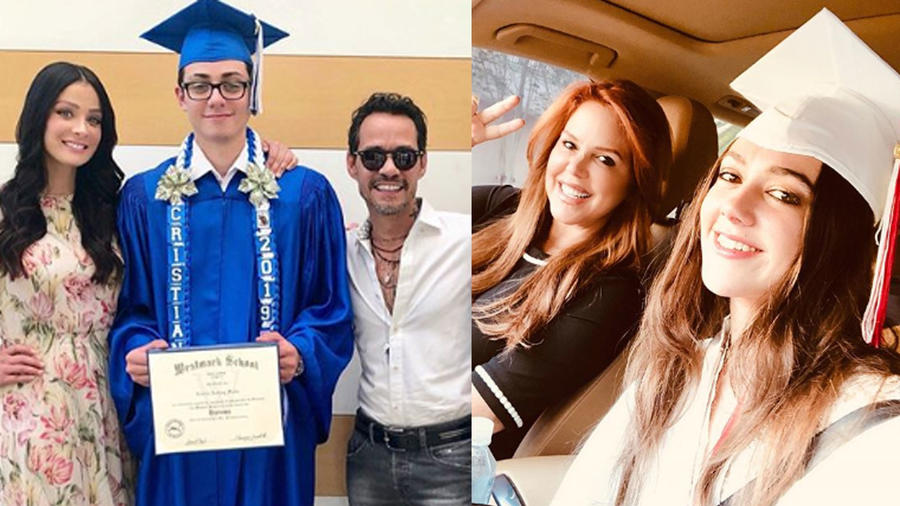 Dayanara Torres, Marc Anthony y María Celeste Arrarás con sus hijos