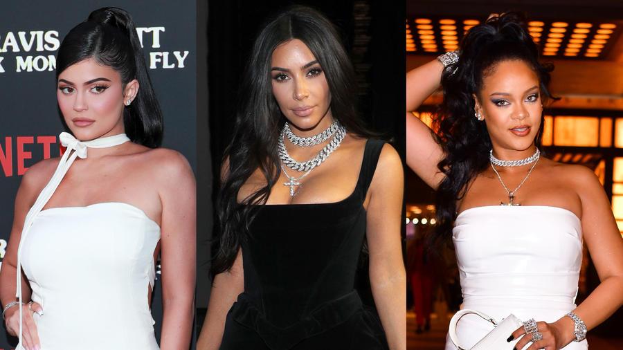 Kim Kardashian, Kylie Jenner y Rihanna