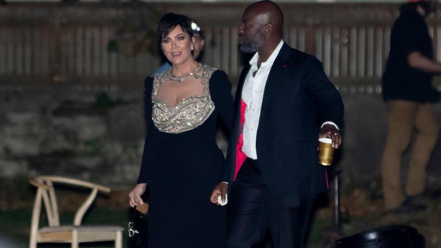 Kris Jenner en la boda de Jennifer Lawrence