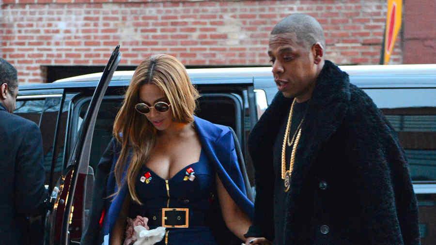 Beyoncé y su esposo Jay-Z en Nueva York.