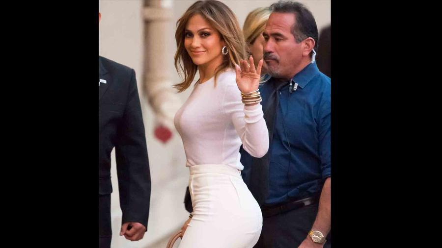 Jennifer Lopez en 'Jimmy Kimmel Live'