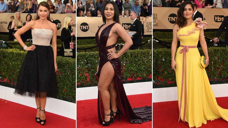 Actrices latinas en la alfombra roja de los Sag Awards 2017