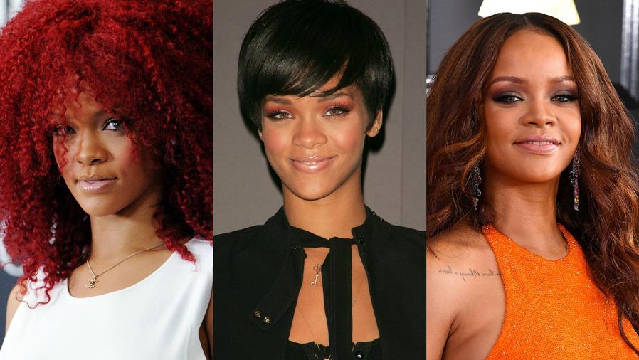 Rihanna con looks distintos