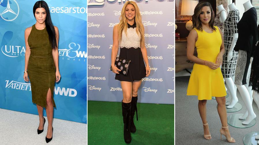 Kourtney Kardashian, Shakira y Eva Longoria