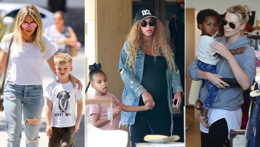 Famosas pasean con sus hijos