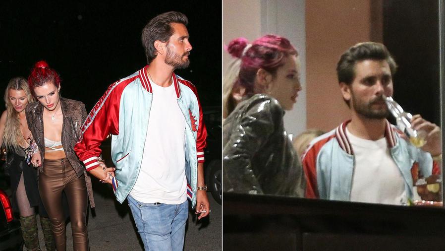 Bella Thorne y Scott Disick de fiesta