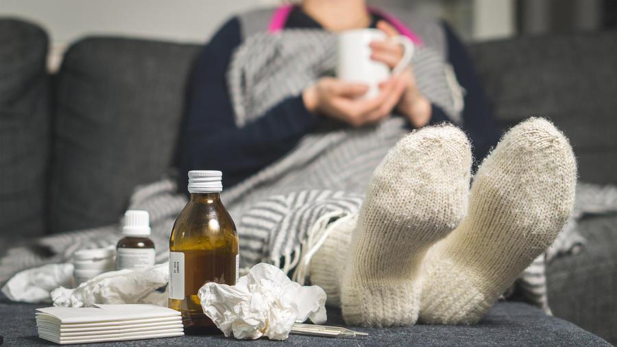Persona enferma en casa