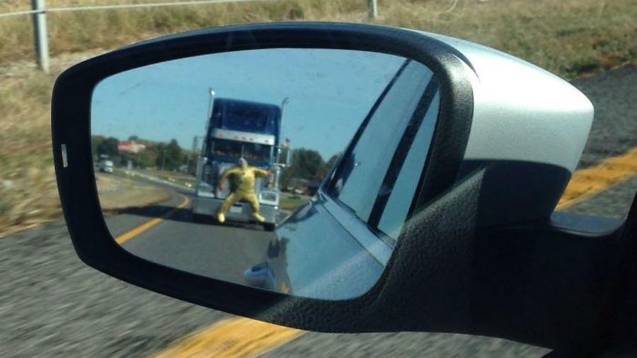 Imágenes insólitas al volante