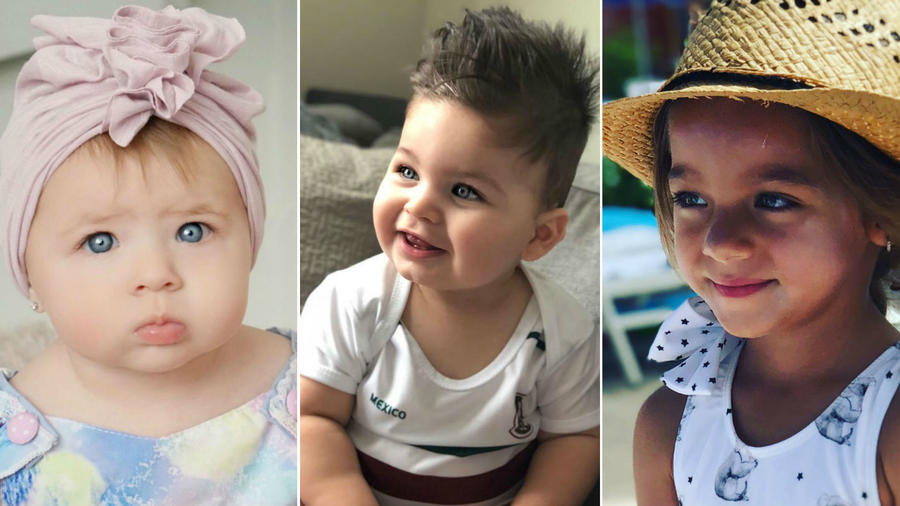 Collage hijos tienros de las celebs latinas