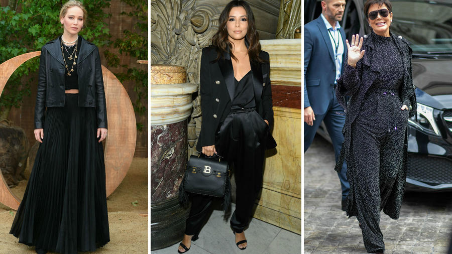 Jennifer Lawrence, Eva Longoria y Kris Jenner en la Paris Fashion Week 2019