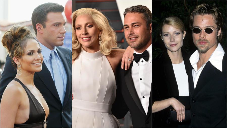 Jennifer López y Ben Affleck, Lady Gaga y Taylor Kinnev y Brad Pitt y Gwyneth Paltrow