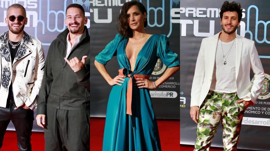 Mau & Ricky, Carmen Villalobos, Sebastián Yatra en la alfombra roja de Premios Tu Música Urbano 2020