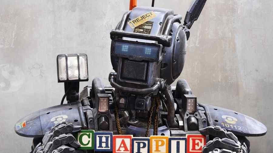 """Póster de la película """"Chappie""""."""