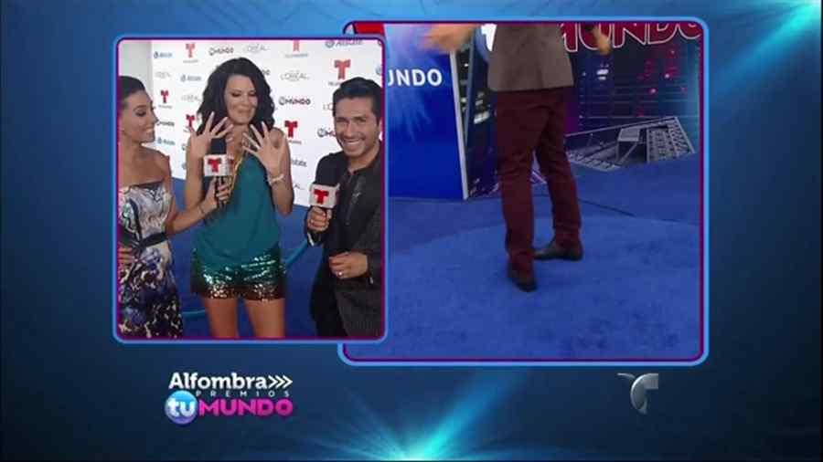 Maritza Rodríguez en la alfombra azúl de premios Tu Mundo