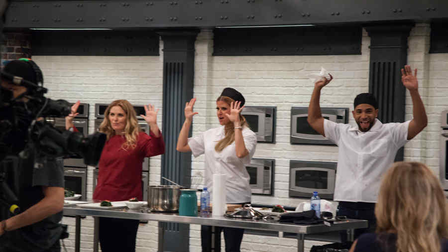 Judith Grace, Sissi Fleitas y Henry Santos en Top Chef Estrellas