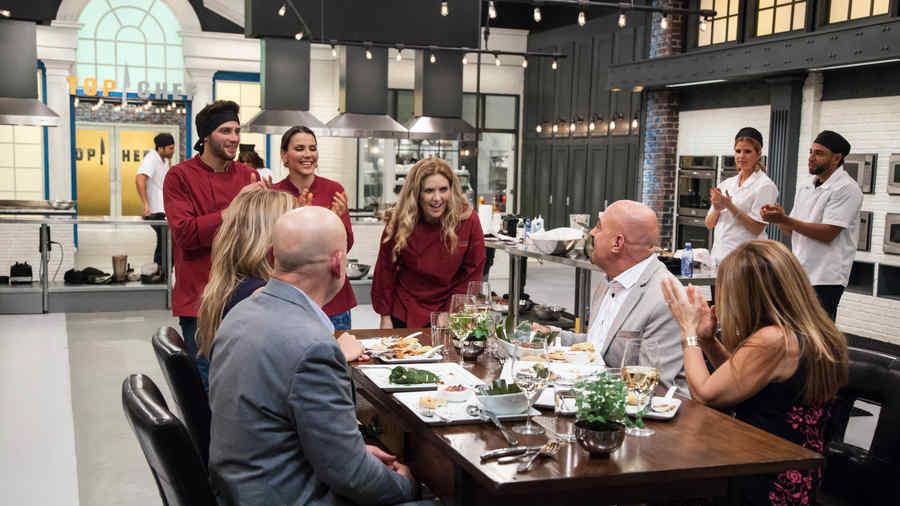 Mesa de jueces en Top Chef Estrellas