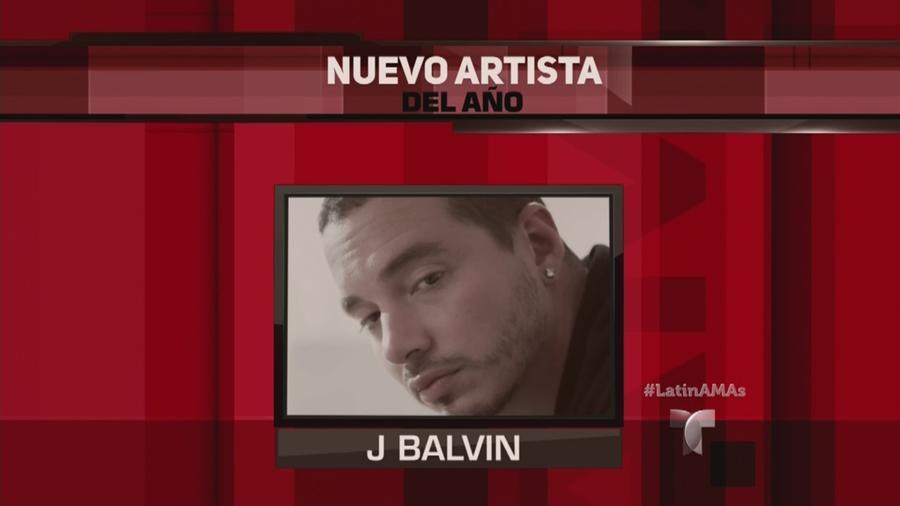 J Balvin gana Nuevo Artista del Año en Latin AMAs 2015
