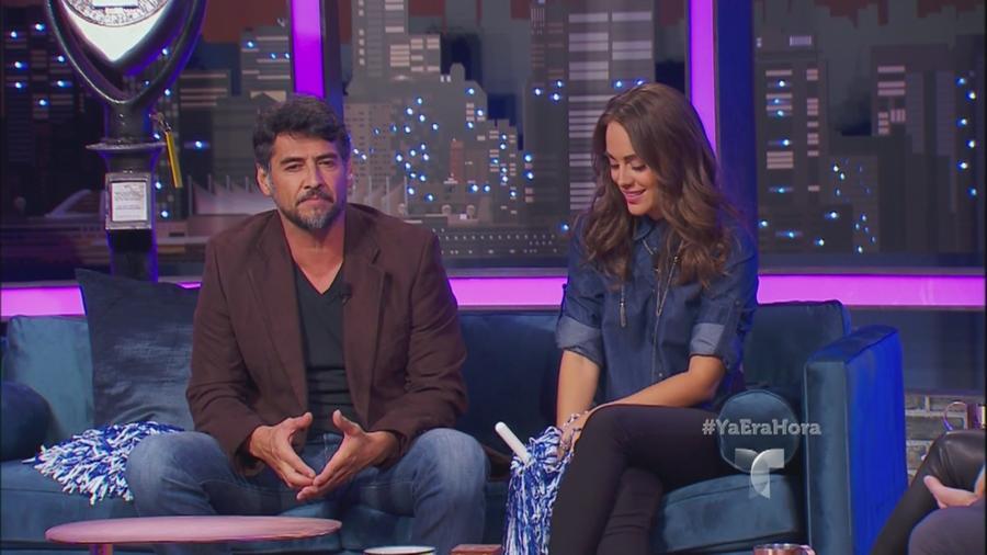 Gabriel Porrás y María Elisa Camargo en Ya era Hora con Erika y Eduardo