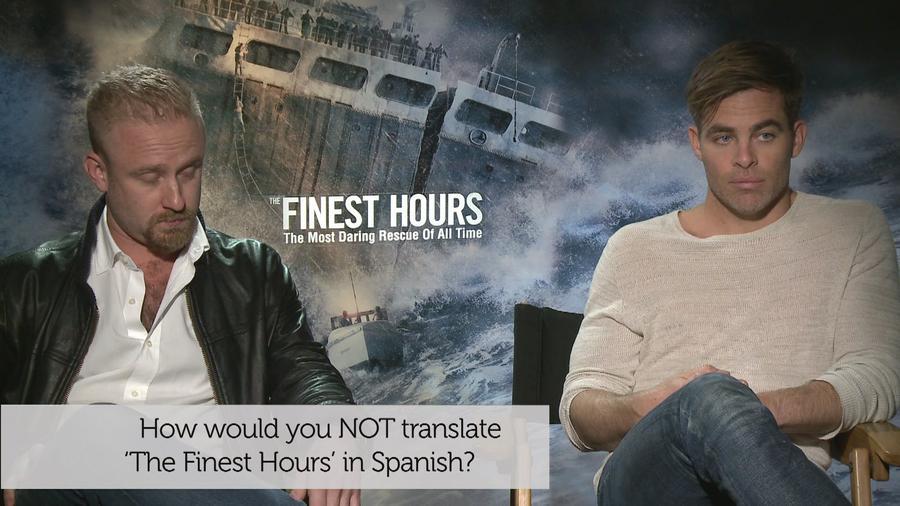 Latino IQ con Chris Pine y Ben Foster