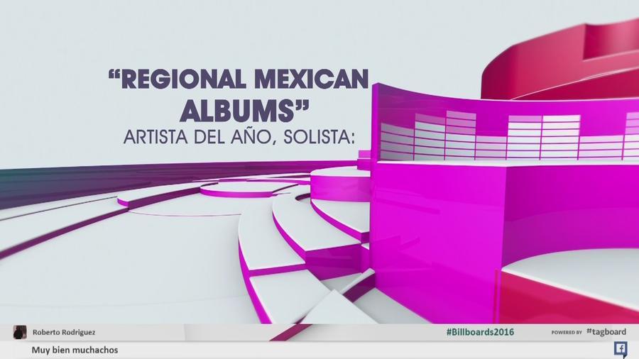 Regional Mexican Albums, Artista del Año Solista