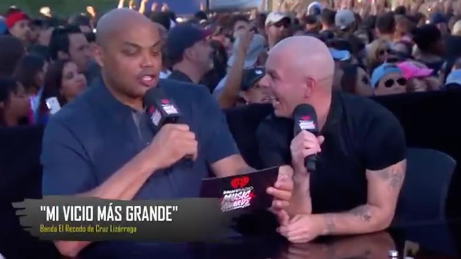 Charles Barkley and Pitbull