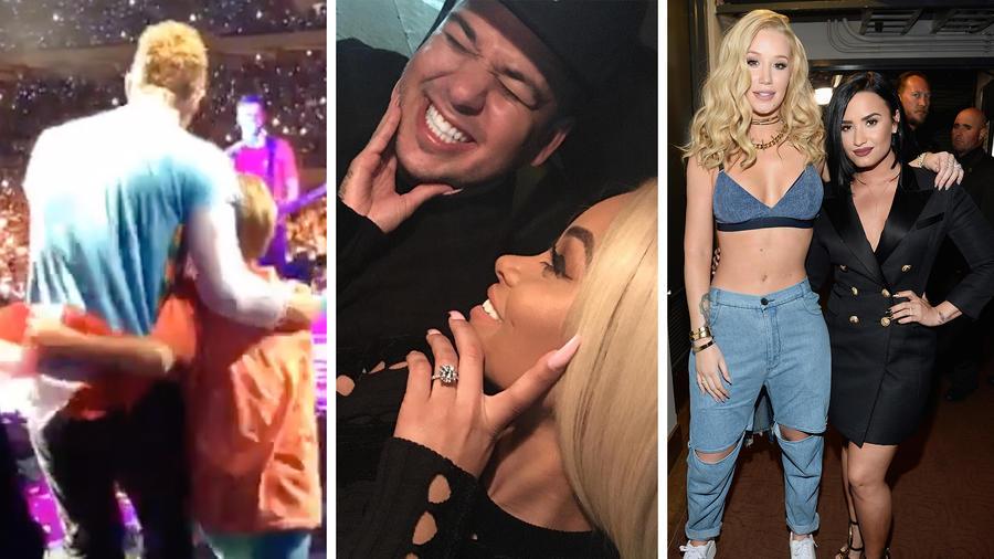 Chris Martin, Rob Kardashian, Blac Chyna, Iggy Azalea, Demi Lovato