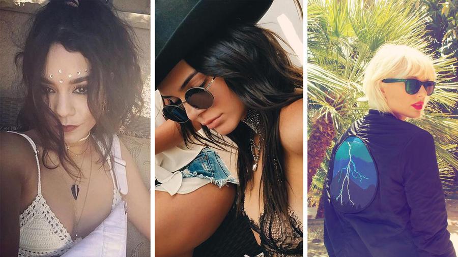Vanessa Hudgens, Kendall Jenner y Taylor Swift en Coachella 2016