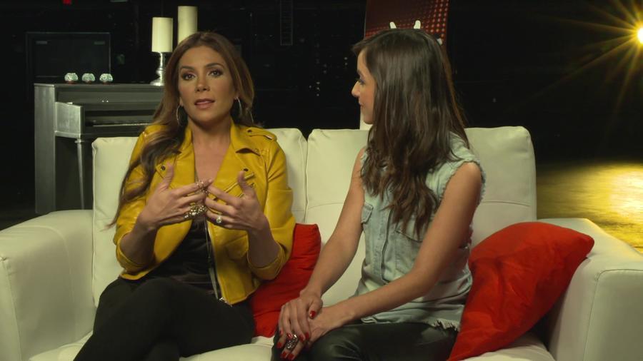 Patricia Manterola y Caeli en entrevista para La Voz Kids