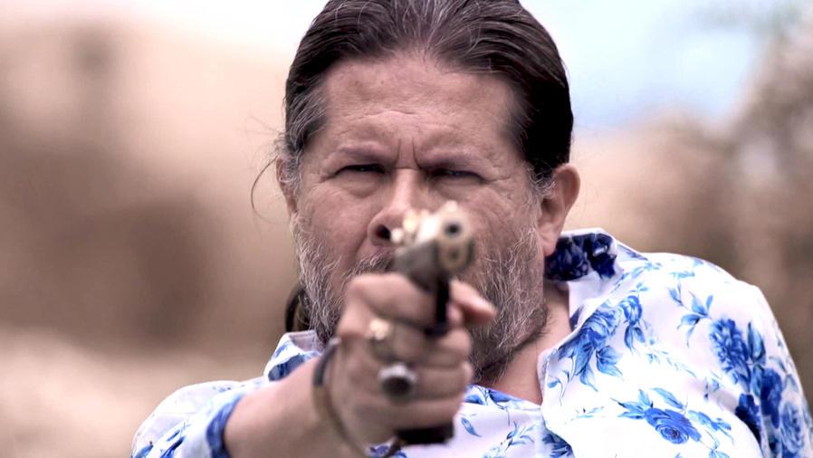 Jorge Zárate, Indio Amaro, disparando, Señora Acero La Coyote