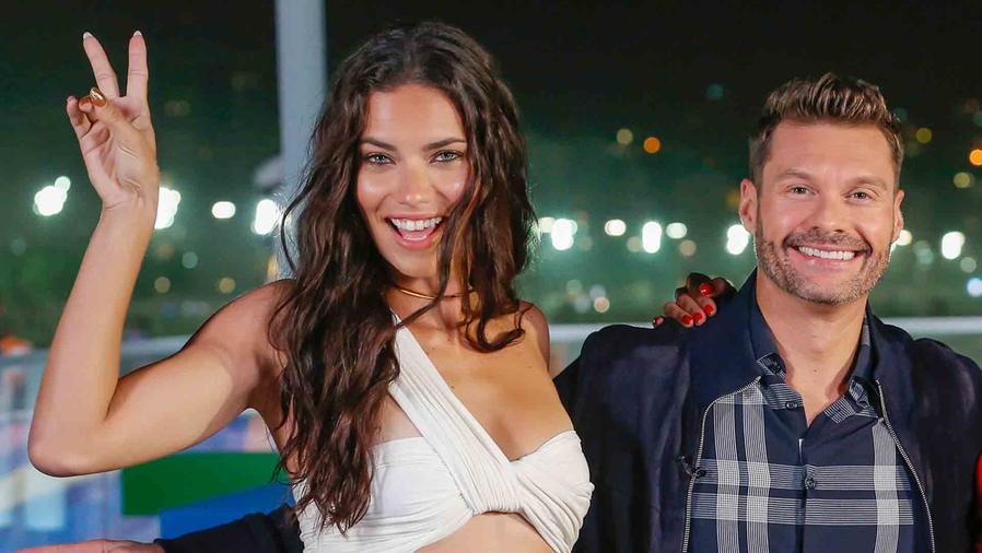 Adriana Lima y Ryan Seacrest en las olimpiadas de Río 2016