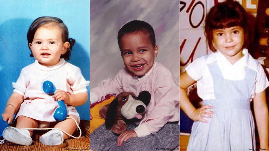 Thalía, Prince Royce, Shakira de pequeños