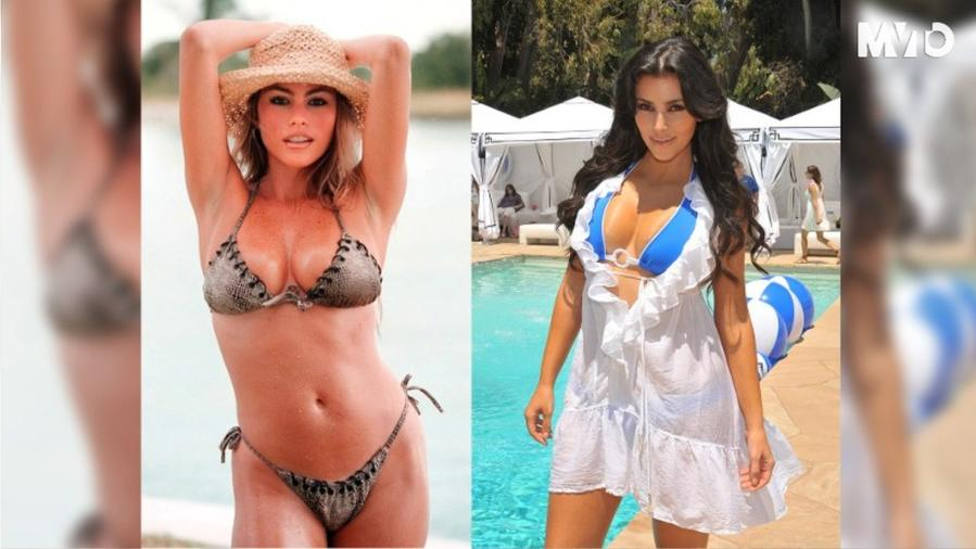 Sofía Vergara y Kim Kardashian en bikini