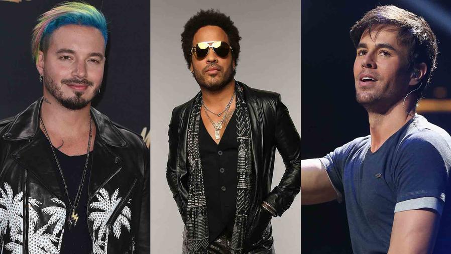 J Balvin, Lenny Kravitz y Enrique Iglesias