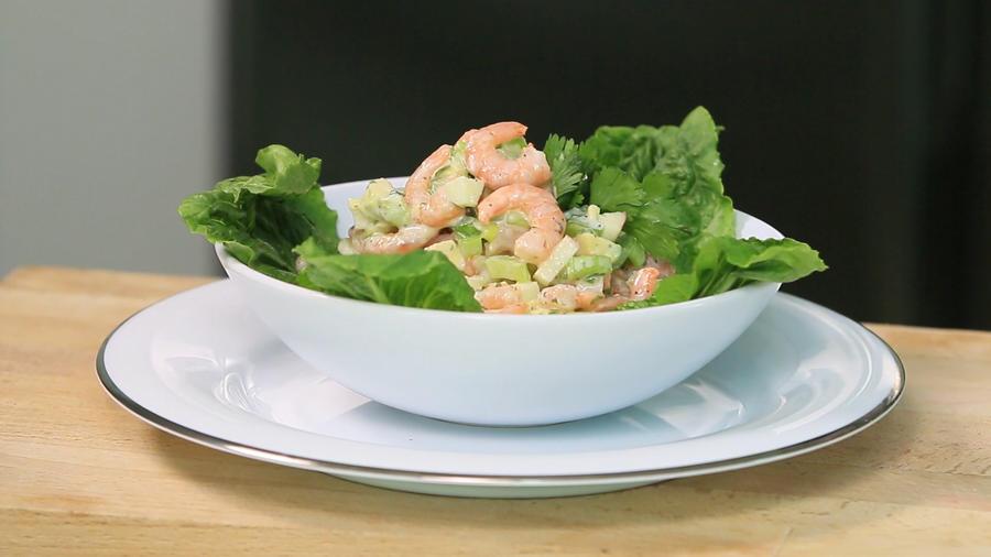 Receta: ensalada de aguacate y camarón