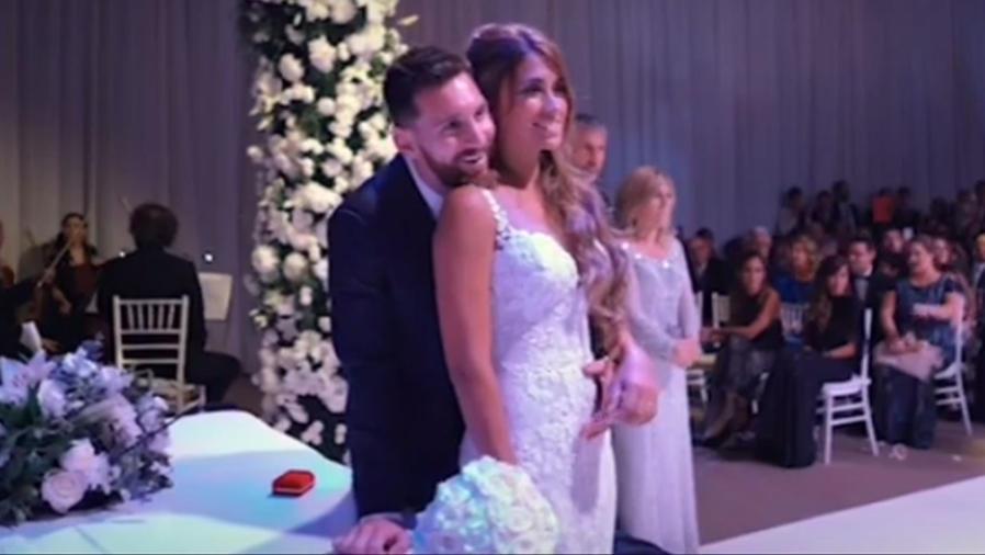 Lionel Messi recuerda un gran momento de su boda con Antonella Roccuzzo