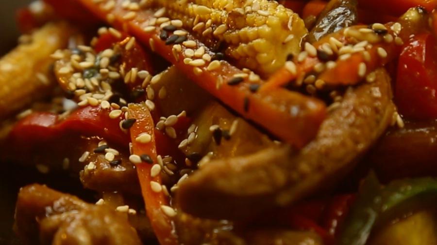 Stir-Fry with Pork and Vegetables Recipe