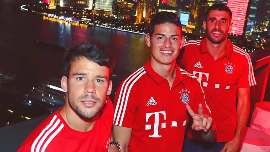 James Rodríguez con el Bayern de Múnich